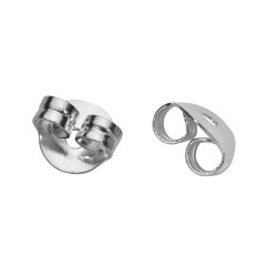 Nuts for ear studs-silver