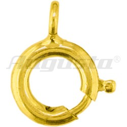Spring ring without collar-plated Yellow