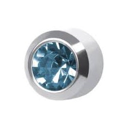 Oorring -Aquamarinel -staal 3.95mm