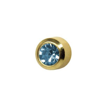 Earring -aquamarine-staal 3.95mm